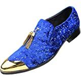 Blue Gold Slip on Loafer