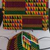 Clutch Bag Mask African Ethnic Print Cloth