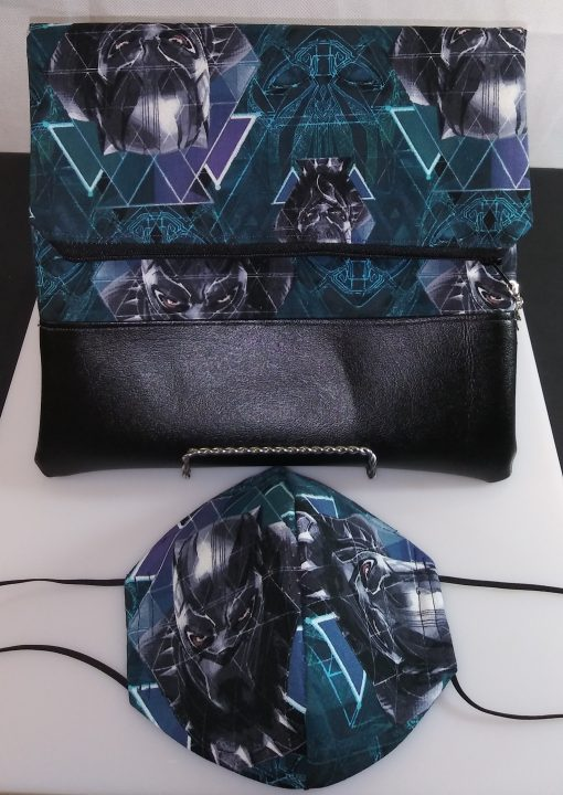 Clutch Bag Mask Black Panther Print Drk Jean