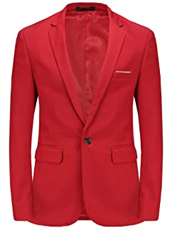 Men's Blazer Red