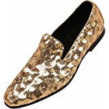 Sequin Swirl Diamond Pattern Slip on Loafers