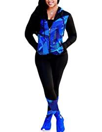 Black Blue Zipper TS